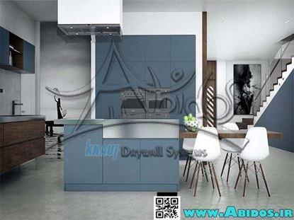 تصویر آشپز خانه ( آبی  مدرن)